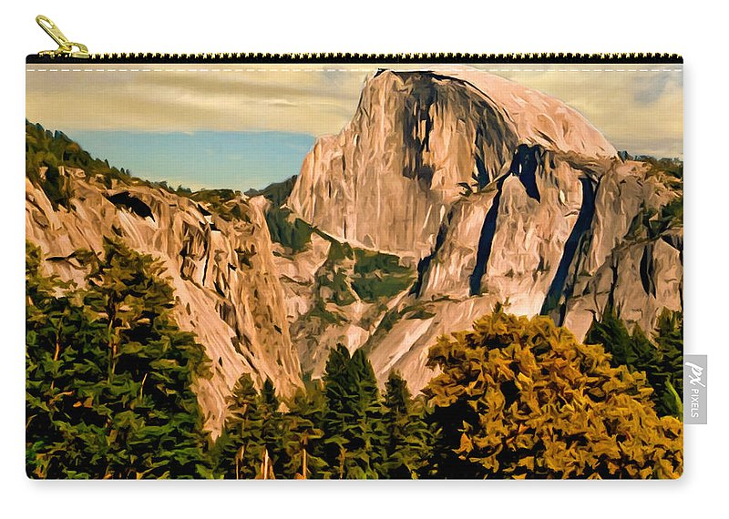 Bob Johnston Carry-all Pouch featuring the painting Half Dome Painting by Bob and Nadine Johnston