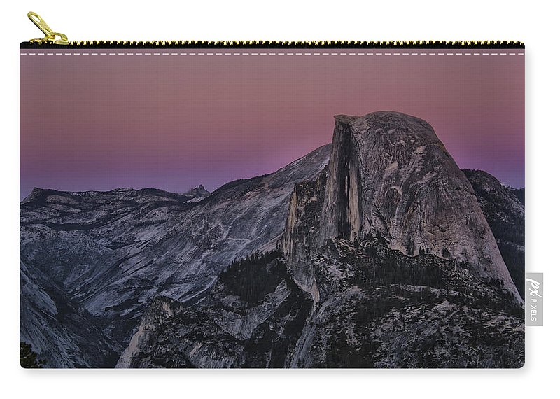 Twilight Carry-all Pouch featuring the photograph Half Dome Twilight by Erika Fawcett