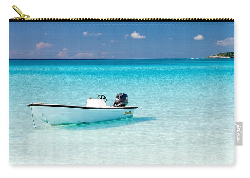 Half Moon Cay Carry-all Pouch featuring the photograph Half Moon Cay by CJ Middendorf