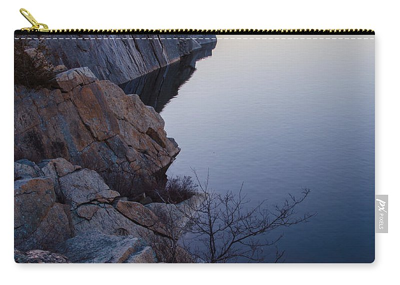 Reservoir Carry-all Pouch featuring the photograph Halibut Point In Rockport by Pat Lucas