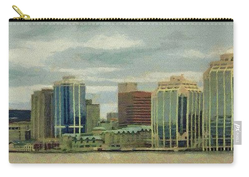 Halifax Carry-all Pouch featuring the painting Halifax from the Harbour by Jeffrey Kolker