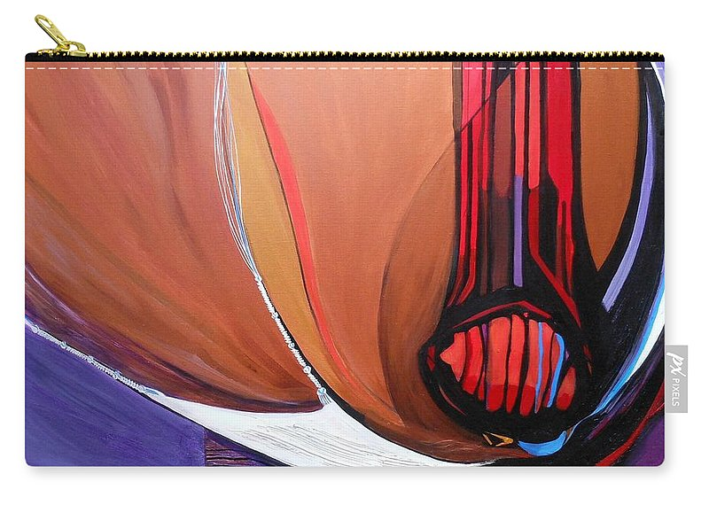 Hallelujah Carry-all Pouch featuring the painting Hallelujah...psalm 51 by Marlene Burns