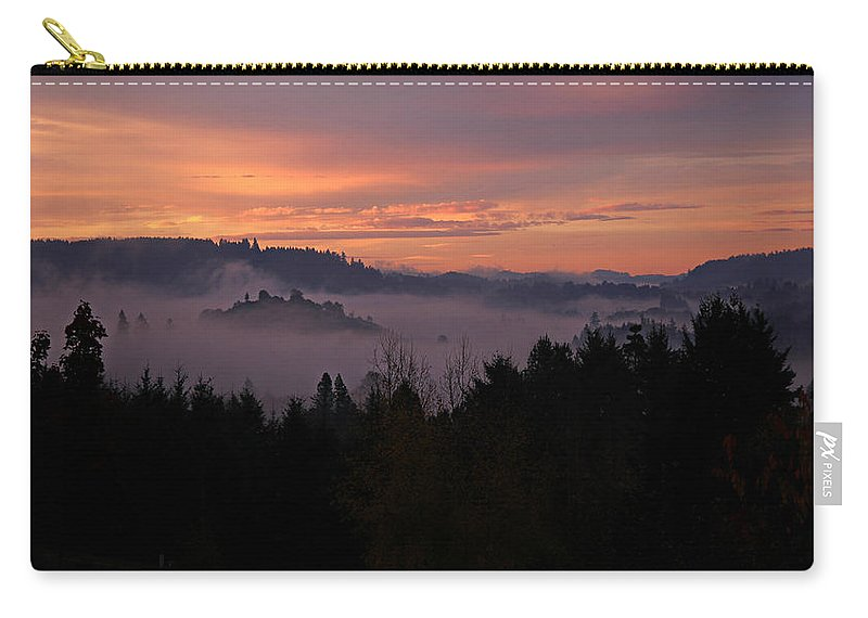Weather Carry-all Pouch featuring the photograph Halloween Sunrise by Katie Wing Vigil