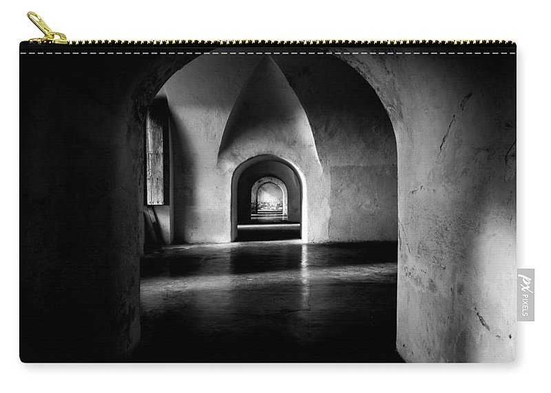 Puerto Rico Carry-all Pouch featuring the photograph Halls by Kristopher Schoenleber