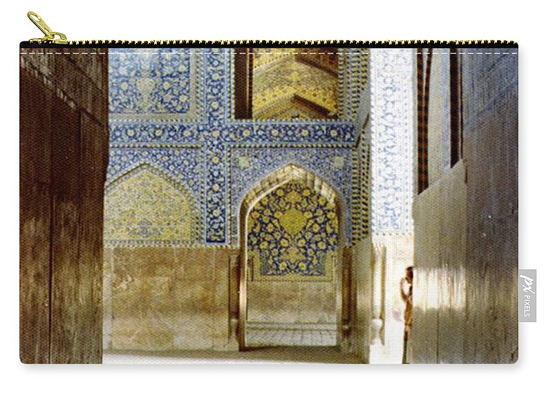 Mosque Carry-all Pouch featuring the photograph Hallway At Sheik-lotfollah Mosque by Shannon Story
