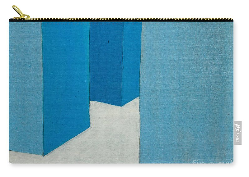Hall Carry-all Pouch featuring the painting Hallway Blue by Stefanie Forck