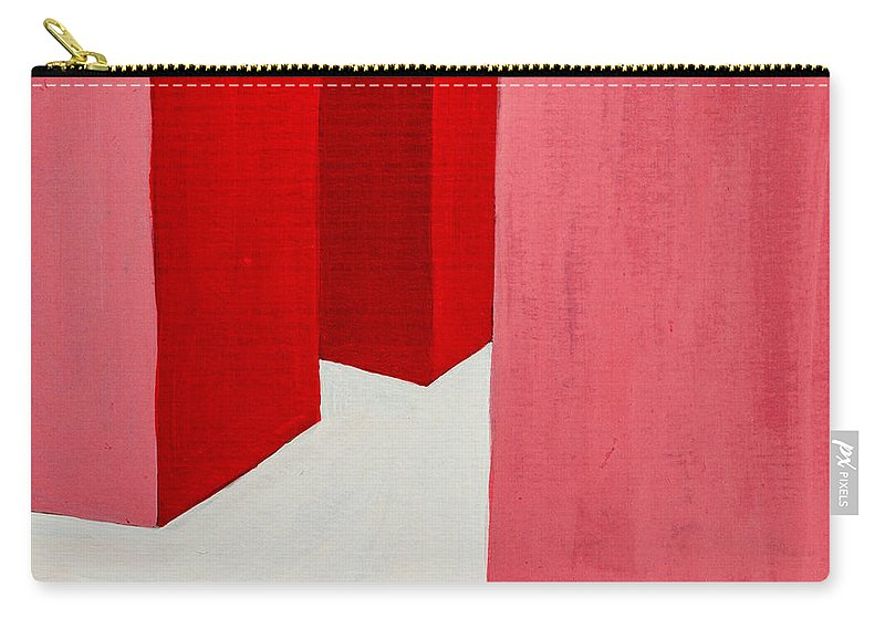 Hallway Carry-all Pouch featuring the painting Hallway Red by Stefanie Forck