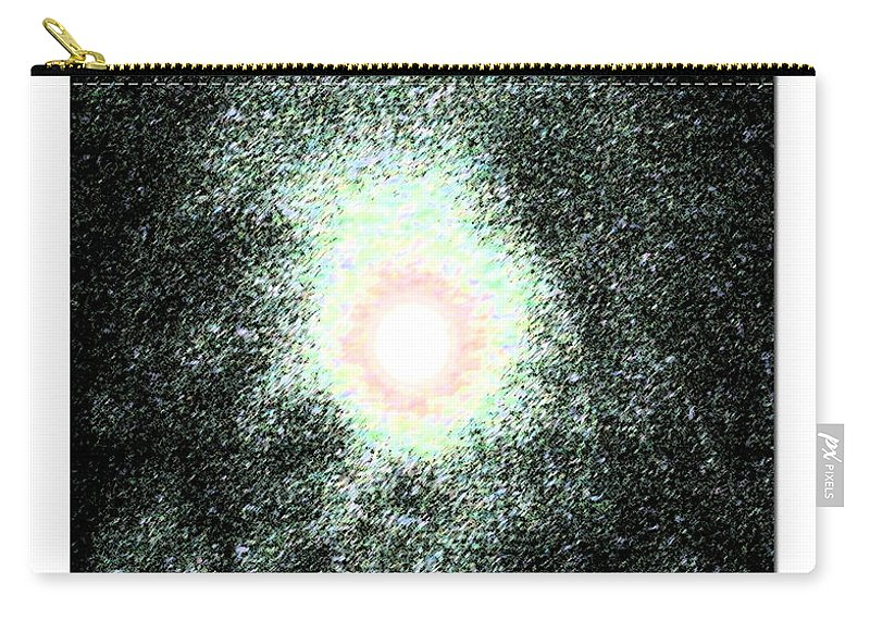 Moon Carry-all Pouch featuring the photograph Haloed Moon by T Byron K