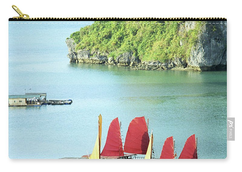 Vietnam Carry-all Pouch featuring the photograph Halong Bay Sails 02 by Rick Piper Photography