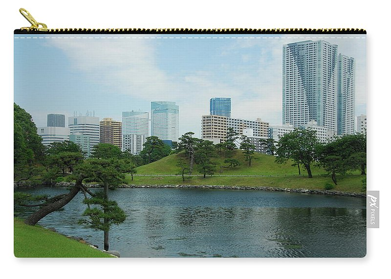 Japanese Carry-all Pouch featuring the photograph Hama Rikyu Japanese Garden by Jonah Anderson