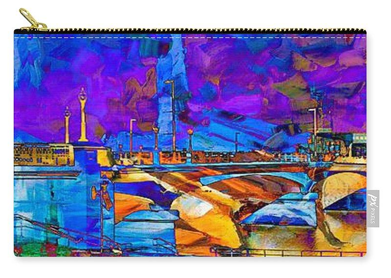 Hamilton Ohio Carry-all Pouch featuring the digital art Hamilton Ohio City Art 14 by Mary Clanahan