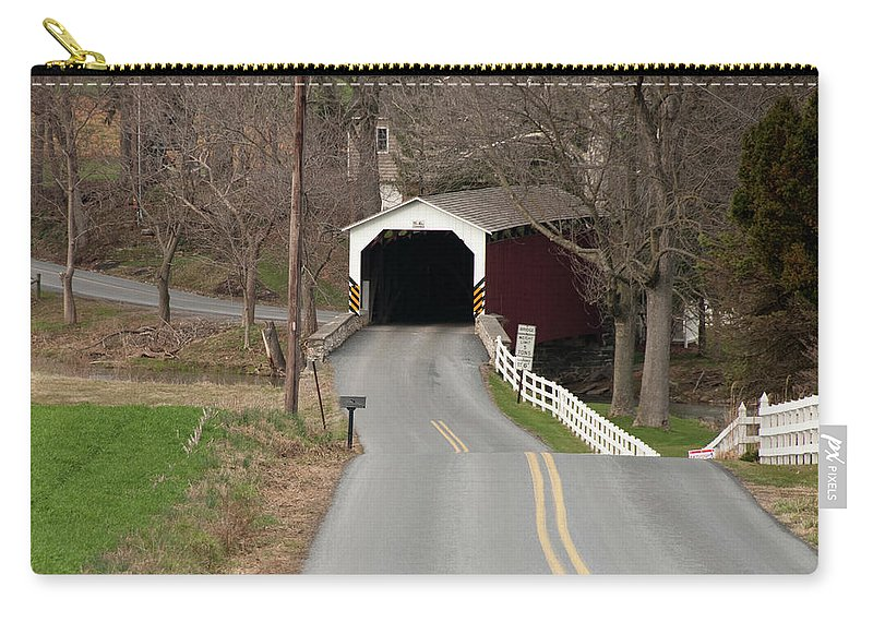 Covered Bridge Carry-all Pouch featuring the photograph Hammer Bridge by David Arment