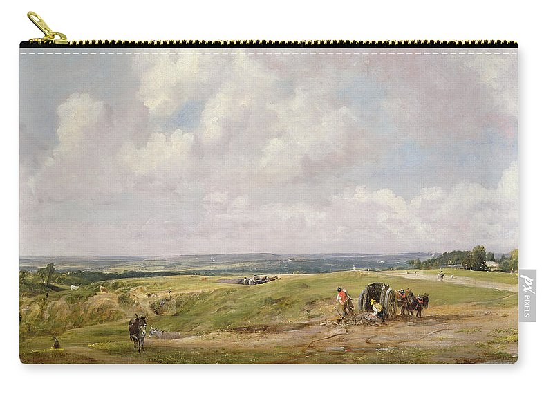 Donkey Carry-all Pouch featuring the painting Hampstead Heath, C.1820 by John Constable