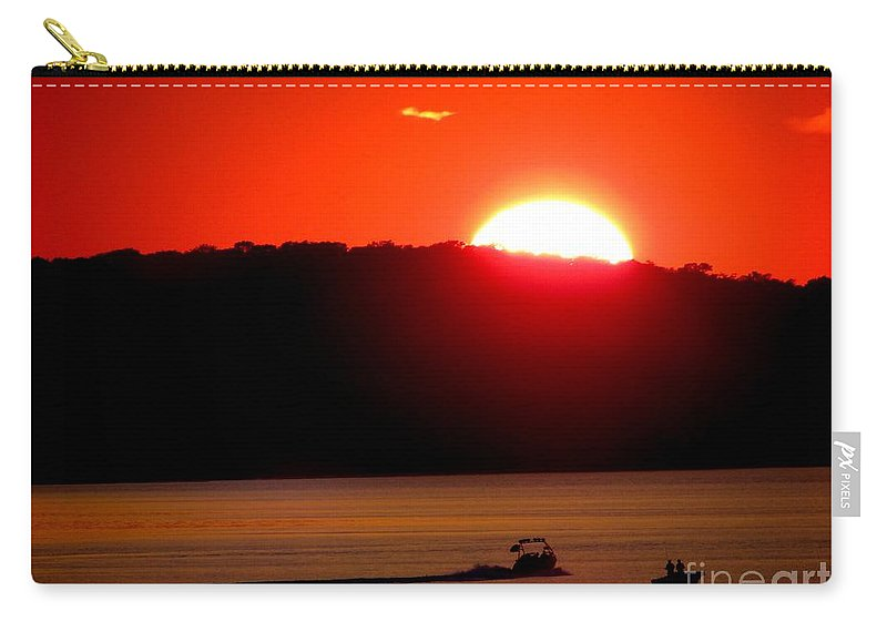 Sunset Carry-all Pouch featuring the photograph Hamptons Sunset by Ed Weidman