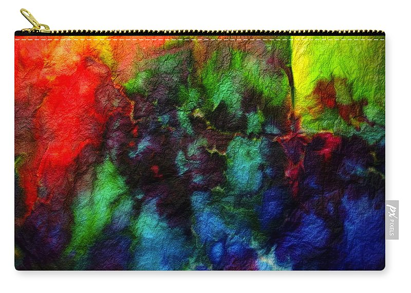 Dyed Carry-all Pouch featuring the photograph Hand Dyed 5 by Anita Bell
