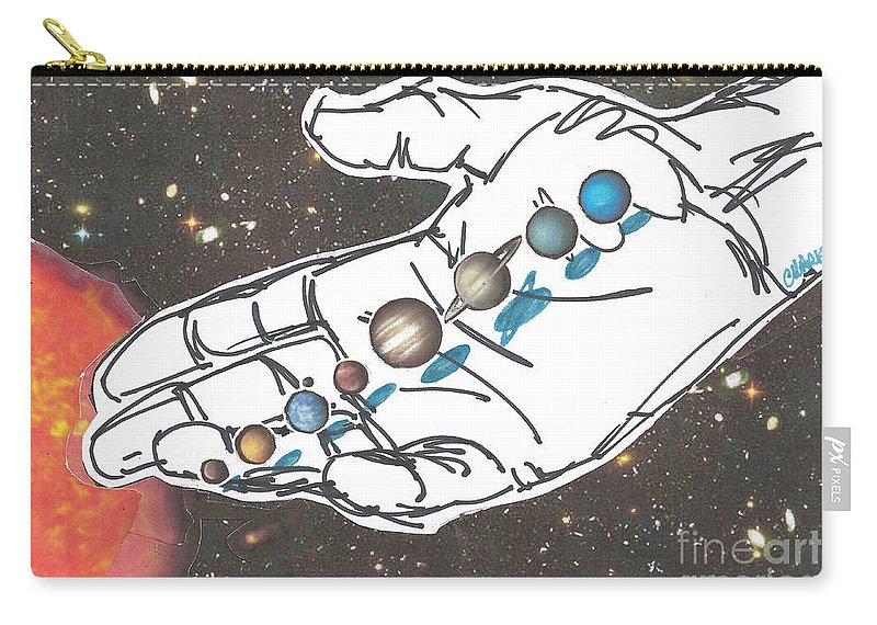 Creation Carry-all Pouch featuring the mixed media Hand Full Of Carbon by Charles M Williams