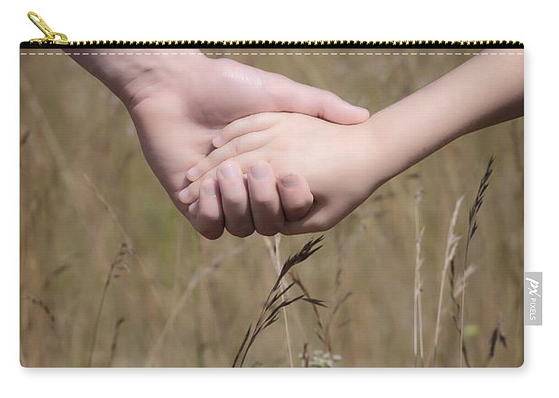 Child Carry-all Pouch featuring the photograph Hand In Hand by Joana Kruse
