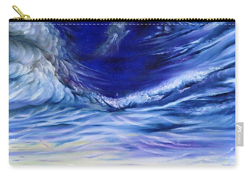 Sky Carry-all Pouch featuring the painting Hand Of God by Teresa Gostanza