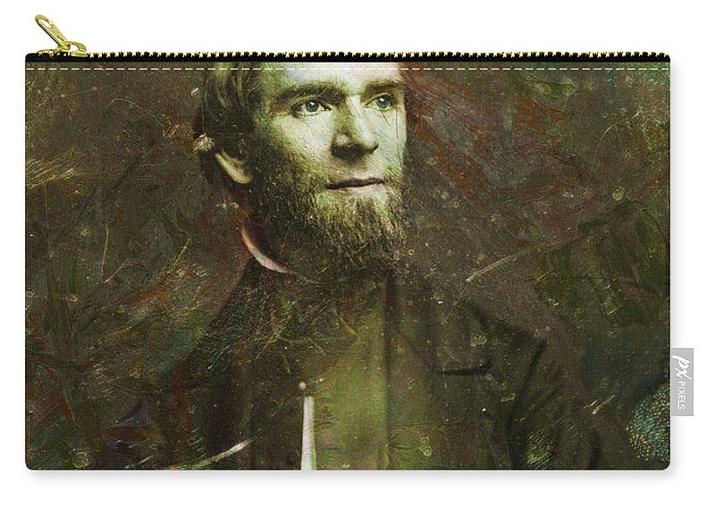 Daguerrotype Carry-all Pouch featuring the painting Handsome Fellow 2 by James W Johnson