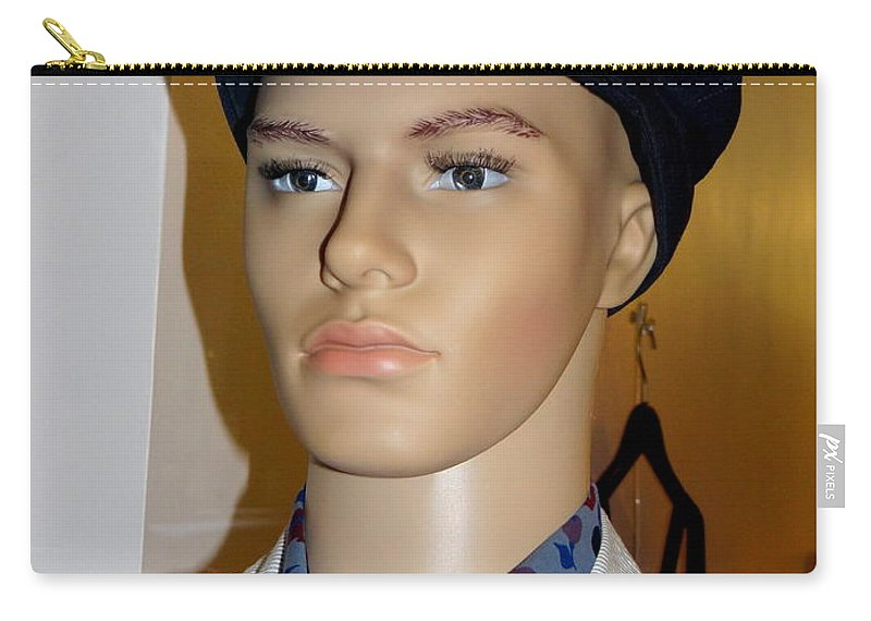 Mannequins Carry-all Pouch featuring the photograph Handsome Henry by Ed Weidman