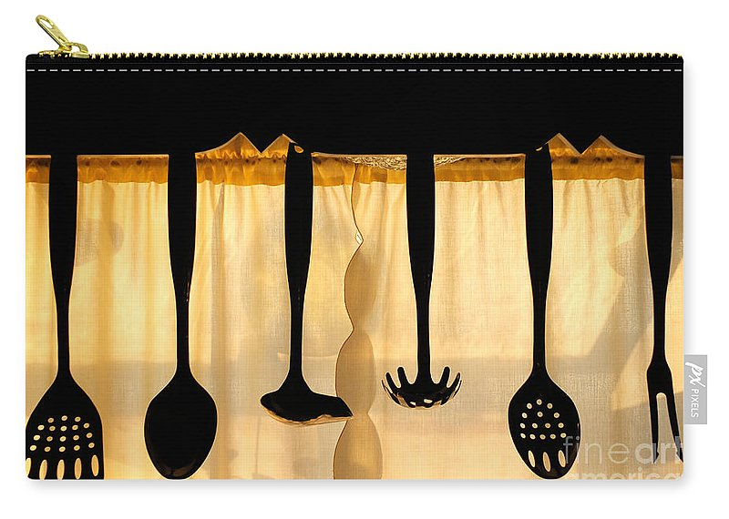 Utensils Carry-all Pouch featuring the photograph Hanging Utensils 2 by Mike Nellums