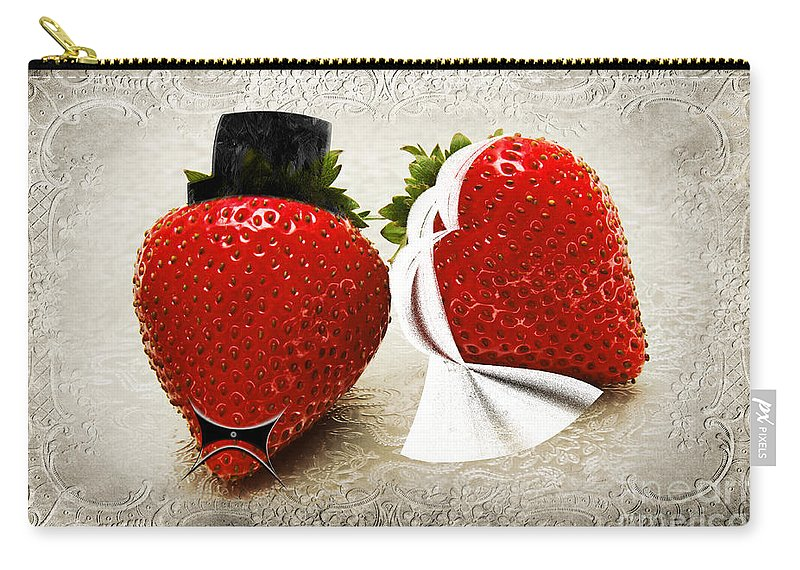 Strawberries Carry-all Pouch featuring the photograph Happily Berry After by Andee Design