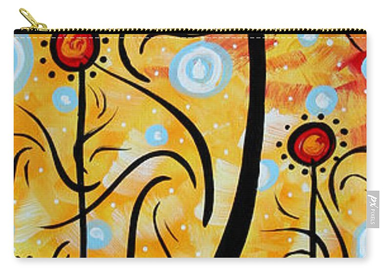 Painting Carry-all Pouch featuring the painting Happiness By Madart by Megan Duncanson