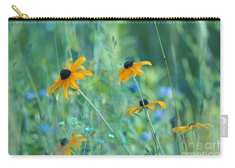 Flowers Carry-all Pouch featuring the photograph Happiness Is In The Meadows by Aimelle