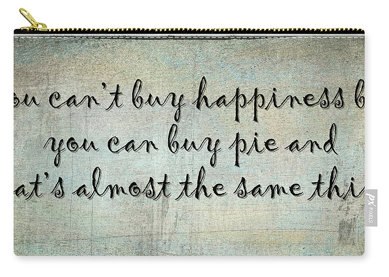 Happiness Carry-all Pouch featuring the photograph Happiness Is Some Warm Pie by Joan Carroll