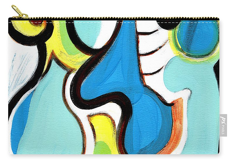 Abstract Art Carry-all Pouch featuring the painting Happiness by Stephen Lucas