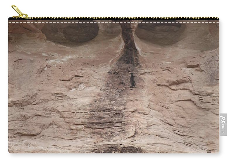 Rock Cliff Carry-all Pouch featuring the photograph Happy Cliff by Brandi Maher