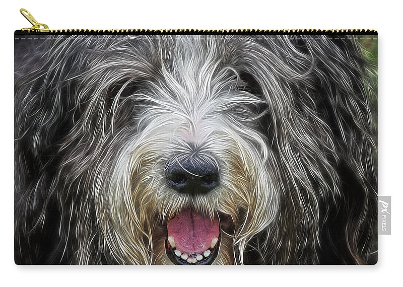 Peek-swint Carry-all Pouch featuring the photograph Happy Dog by Susie Peek