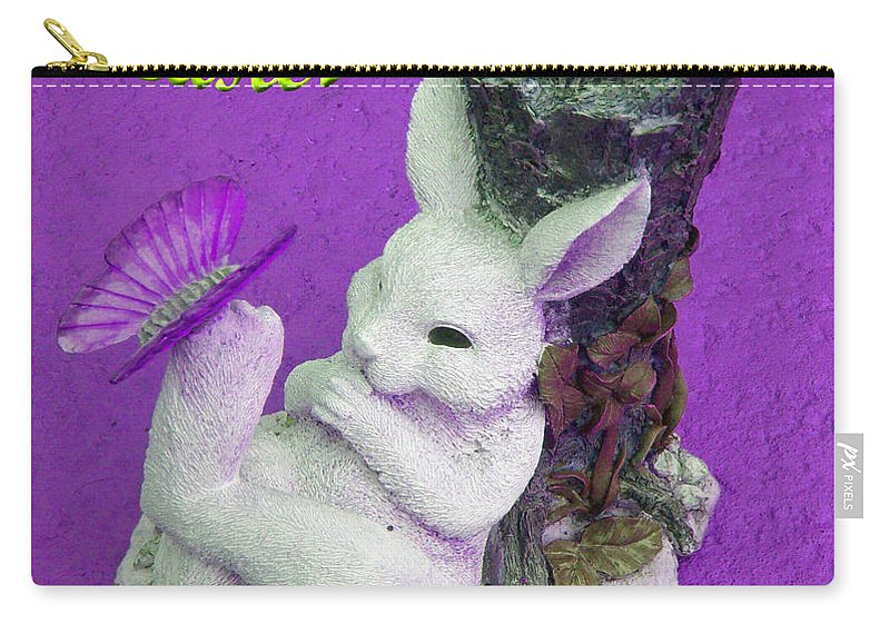 Easter Card Carry-all Pouch featuring the photograph Happy Easter Card 4 by Aimee L Maher ALM GALLERY