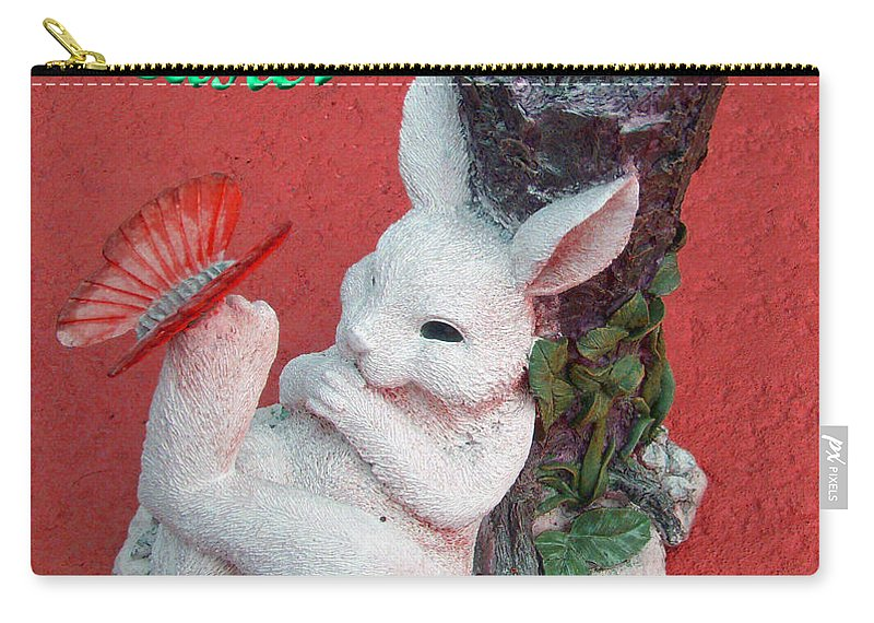 Easter Card Carry-all Pouch featuring the photograph Happy Easter Card 5 by Aimee L Maher ALM GALLERY