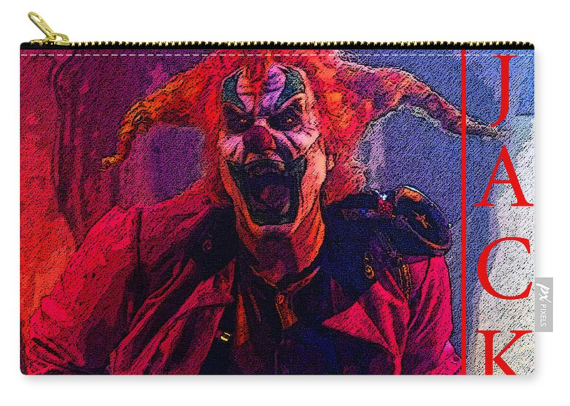 Happy Halloween Carry-all Pouch featuring the painting Happy Halloween Jack by David Lee Thompson