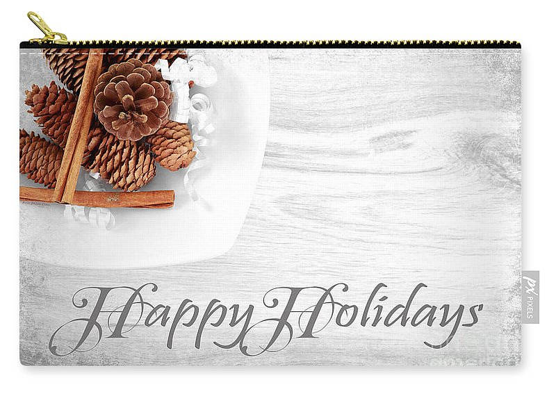 Christmas Carry-all Pouch featuring the photograph Happy Holidays by Beve Brown-Clark Photography