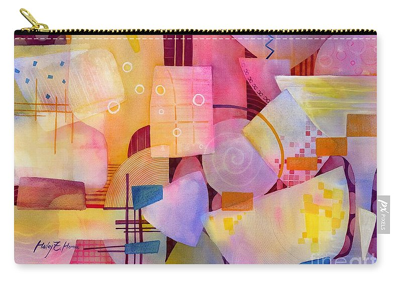 Food Carry-all Pouch featuring the painting Happy Hour by Hailey E Herrera
