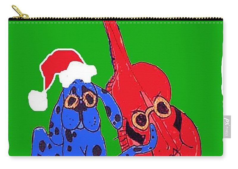 Elvis Carry-all Pouch featuring the mixed media Happy Hunka Holiday by Lizi Beard-Ward