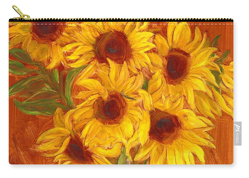 Still Life Carry-all Pouch featuring the painting Happy Mother's Day by Paula Emery