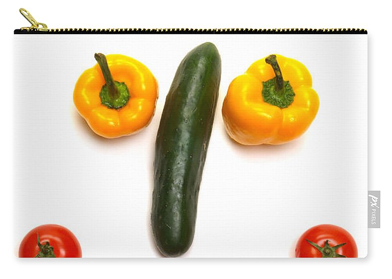 Vegetables Carry-all Pouch featuring the photograph Happy Veggie Face by Olivier Le Queinec
