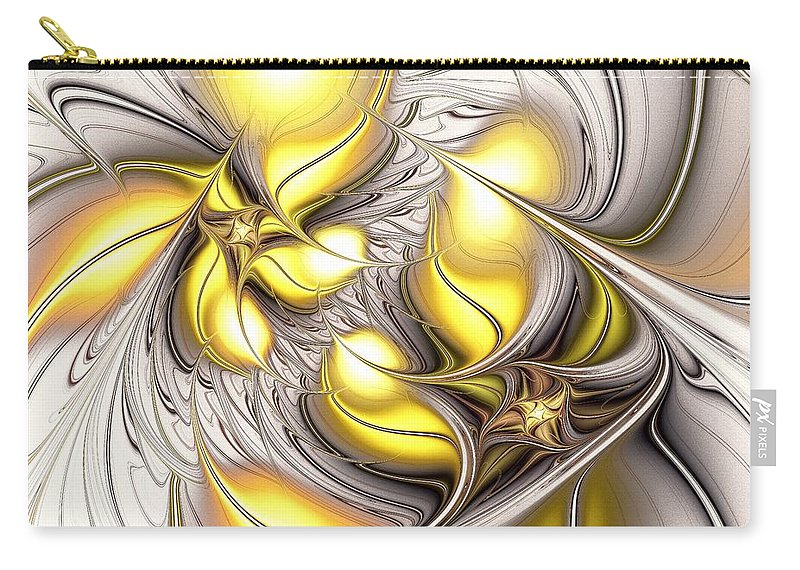 Malakhova Carry-all Pouch featuring the digital art Happy Yellow by Anastasiya Malakhova
