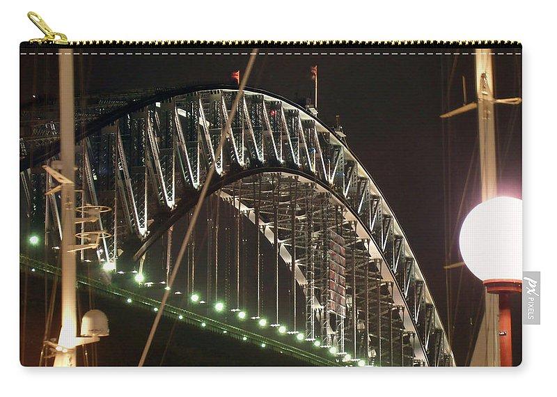 Harbor Bridge Carry-all Pouch featuring the photograph Harbor Bridge by Ellen Henneke
