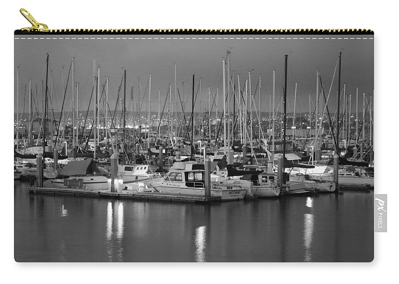 Harbor Lights Ii Carry-all Pouch featuring the digital art Harbor Lights II by Barbara Snyder