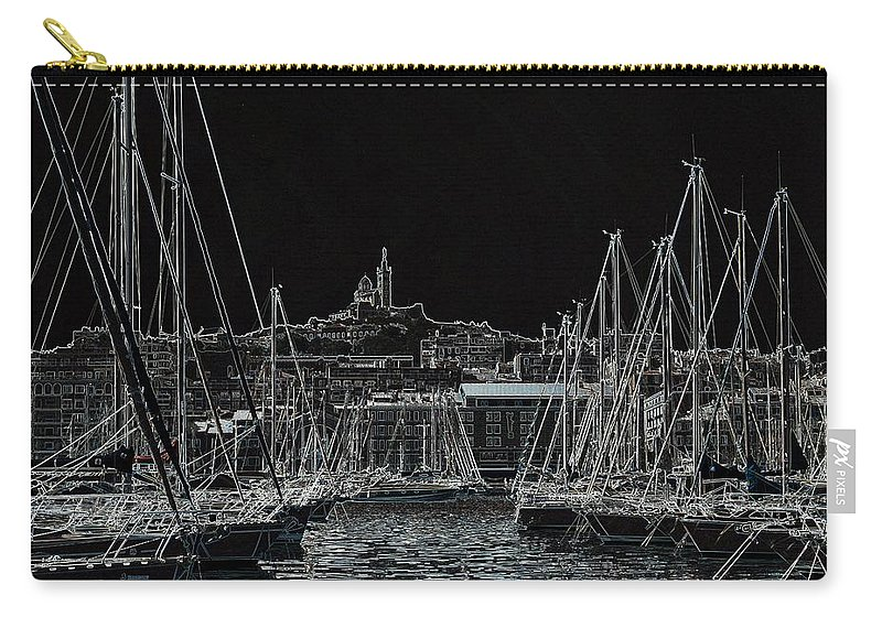 Black Carry-all Pouch featuring the photograph Harbor by Steven Liveoak