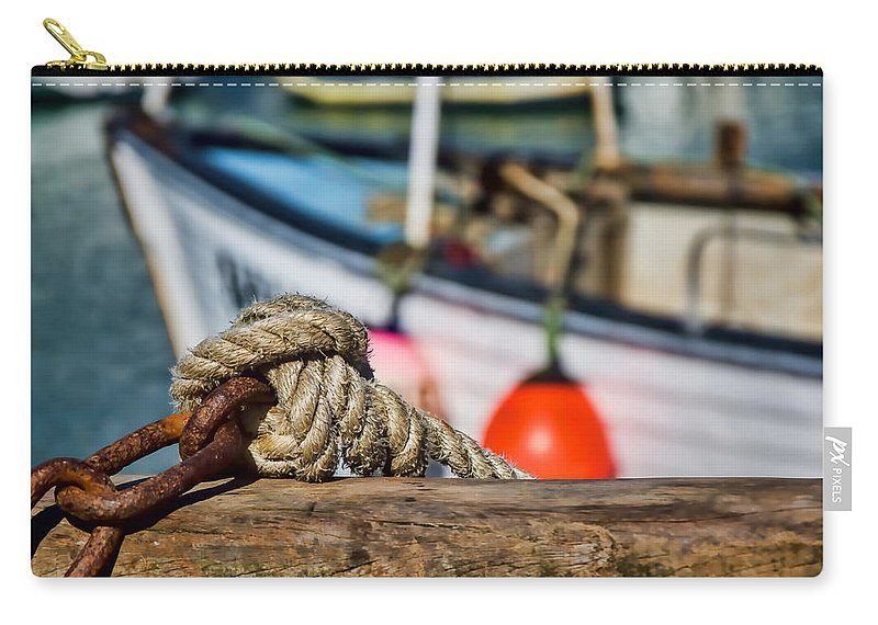Nautical Carry-all Pouch featuring the photograph Harbour Knots by Susie Peek