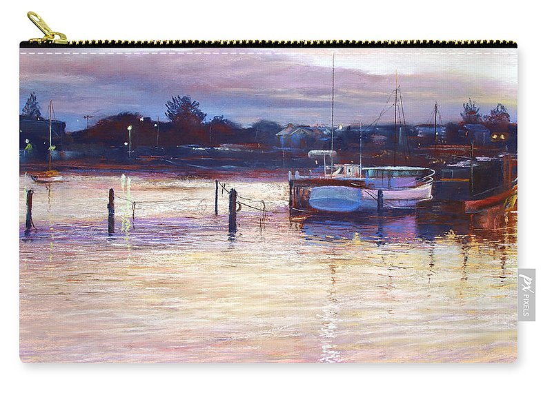 Lynda Robinson Carry-all Pouch featuring the pastel Harbour Lights - Apollo Bay by Lynda Robinson