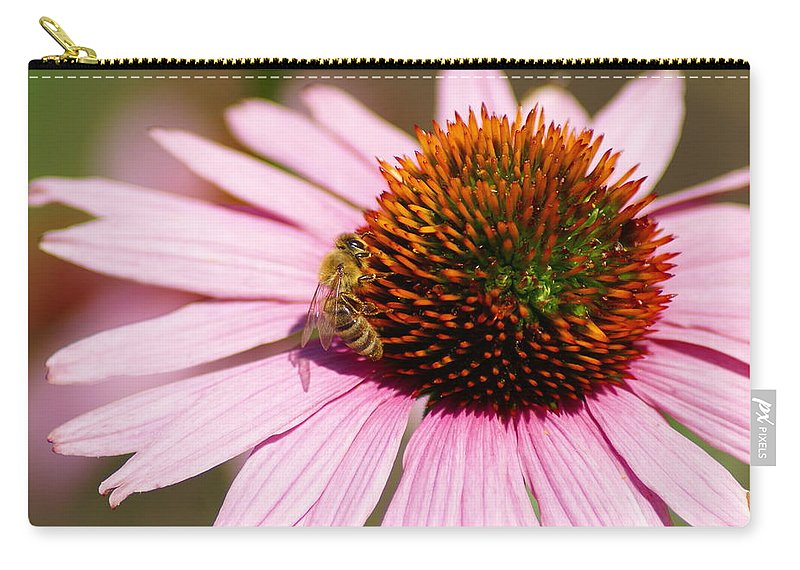 Bees Carry-all Pouch featuring the photograph Hard At Work For The Planet by Ben Upham III