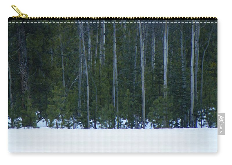 Winter Carry-all Pouch featuring the photograph Hard Line Winter by Brian Boyle