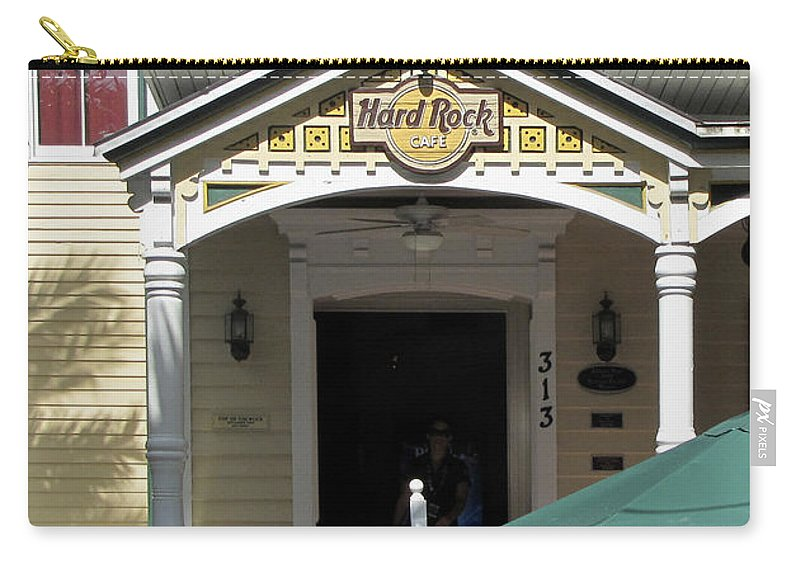 Architecture Carry-all Pouch featuring the photograph Hard Rock Key West by Bob Slitzan