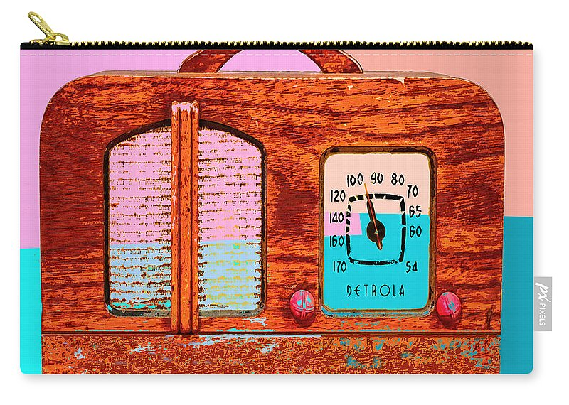 Pop Art Carry-all Pouch featuring the mixed media Hard Rock Maple by Dominic Piperata
